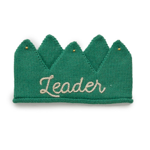 Oeuf Embroidered Crown, Green/Leader