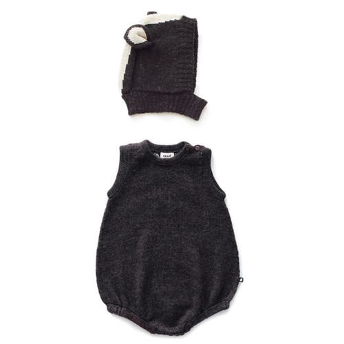 Oeuf Romper Set, Skunk
