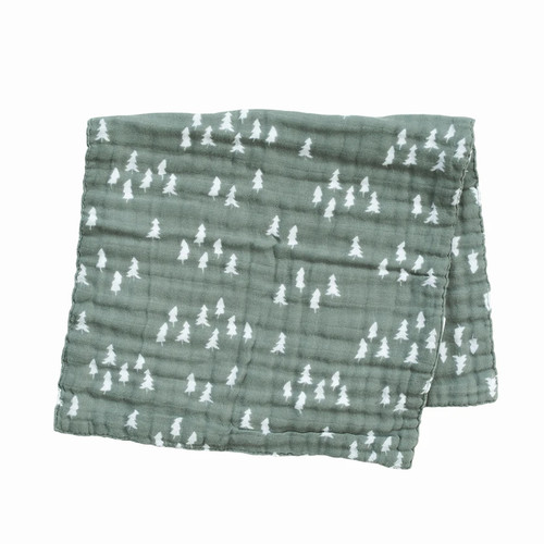 Muslin Burp Cloth, Pines