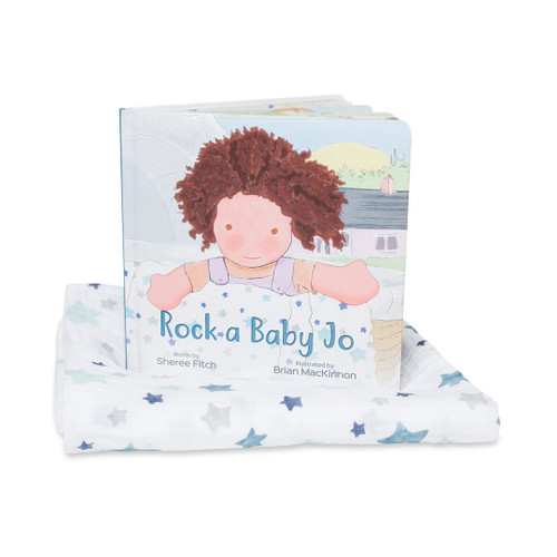 Rock a Baby Jo, Muslin Blanket and Book Set