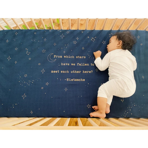 Organic Cotton Crib Sheet, Gold Star