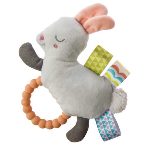 Taggies White Bunny Teething Rattle