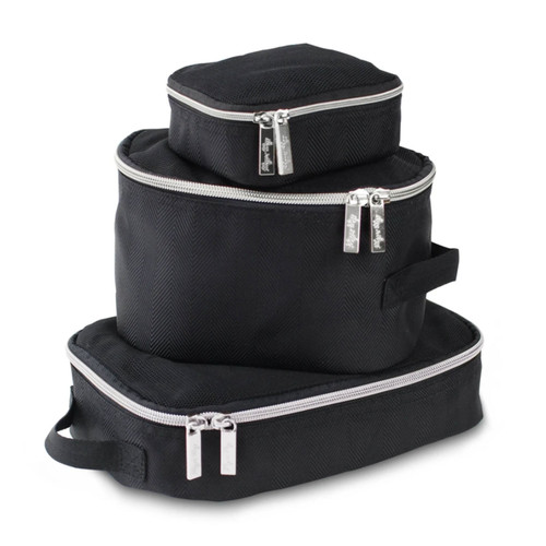 Packing Cubes, Black/Silver