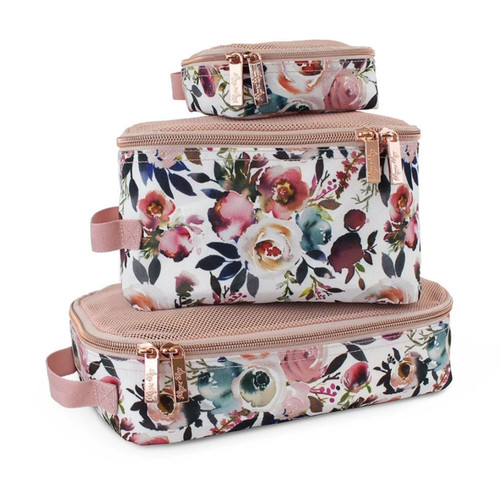 Packing Cubes, Blush Floral