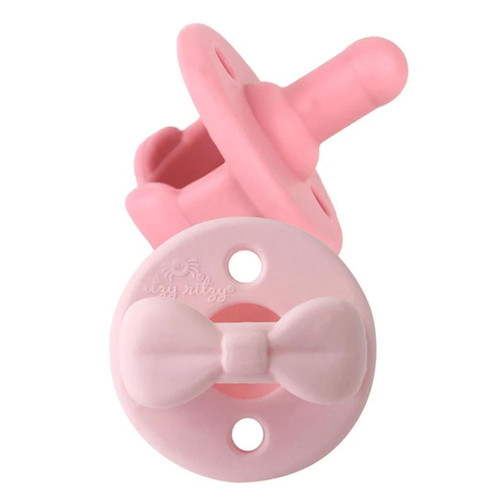 Pacifier 2-Pack, Pink Bows
