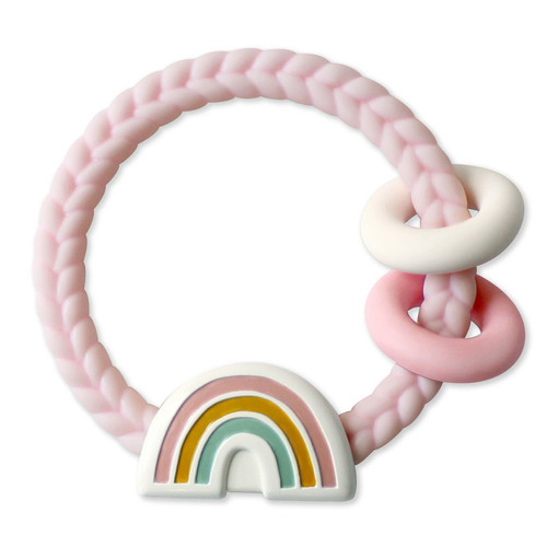 Ritzy Teething Rattle, Rainbow