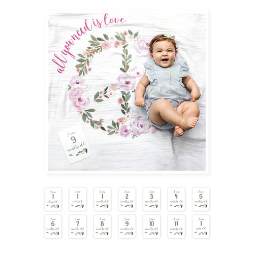 Muslin Blanket & Memory Card Set, All You Need Is Love