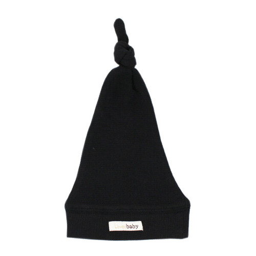 Organic Thermal Knotted Cap, Black