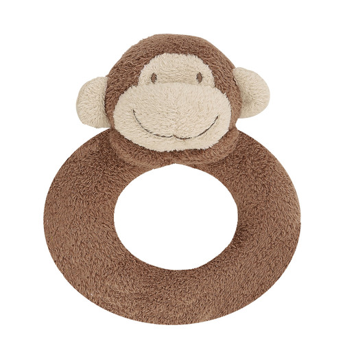 Brown Monkey Ring Rattle