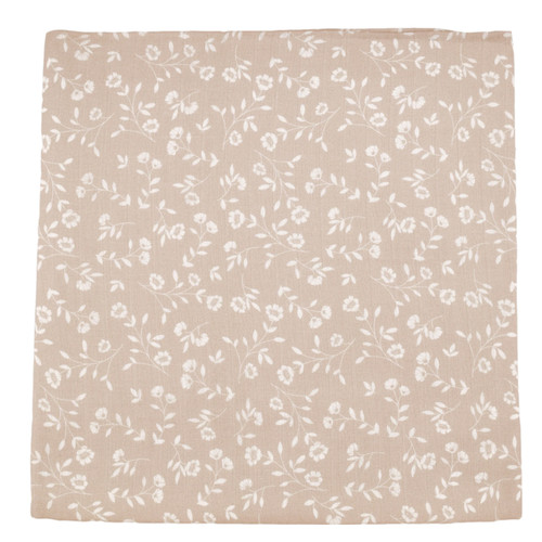 Muslin Swaddle, Taupe Wild Flower