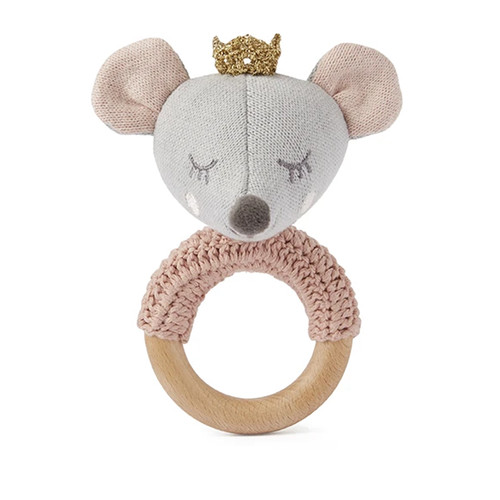 Princess Mouse Knit Ring Rattle