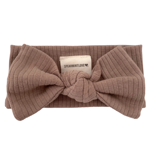 Organic Ribbed Knot Bow, Clay
