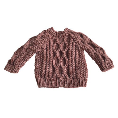 Fisherman Sweater, Mauve