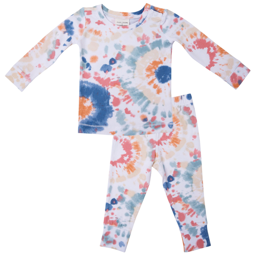 2-Piece Lounge Wear Set, Canyon Haze Ray Tie Dye