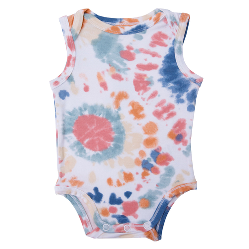 Sleeveless Bodysuit, Canyon Haze Ray Tie Dye
