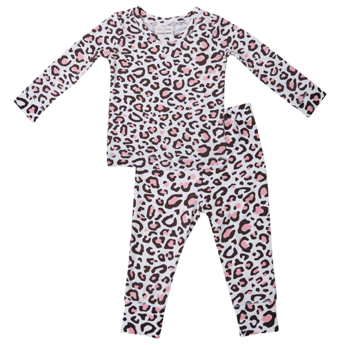 2-Piece Lounge Wear Set, Leopard Pink