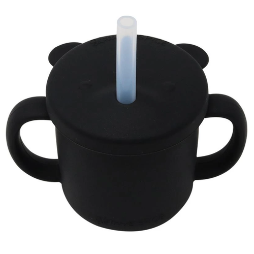 Grow With Me Silicone Bear Cup, Black