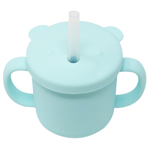 Grow With Me Silicone Bear Cup, Seafoam