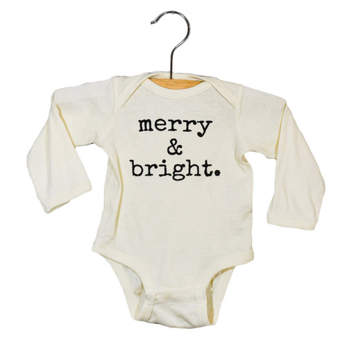 Graphic Bodysuit, Merry and Bright