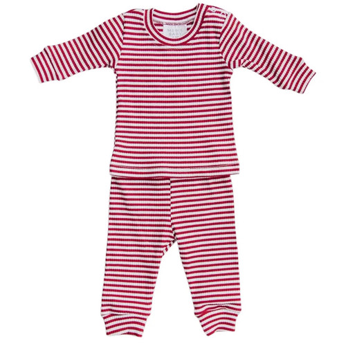 Holiday Ribbed Two Piece Set, Candy Cane Stripe