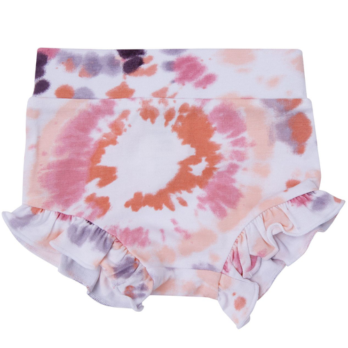 Ruffle Bloomer, Purple Haze Ray Tie Dye