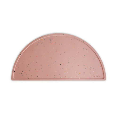Silicone Place Mat, Pink Confetti