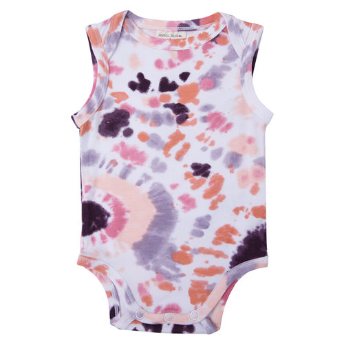 Sleeveless Bodysuit, Purple Haze Ray Tie Dye