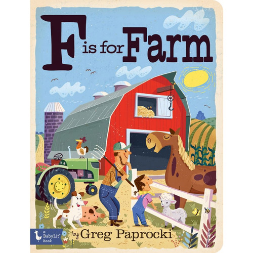 F is for Farm Board Book
