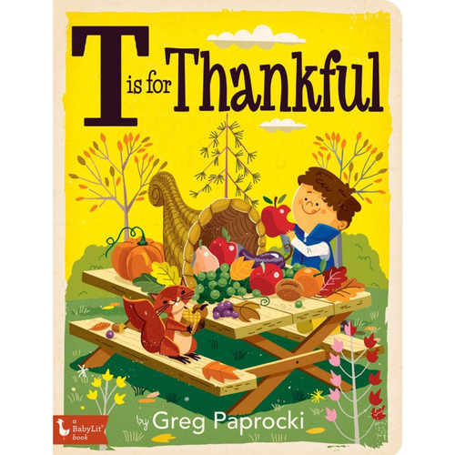 T is for Thankful Board Book