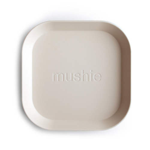 2-Pack Square Plate, Ivory