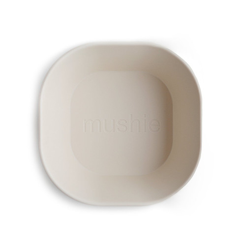 2-Pack Square Bowls, Ivory