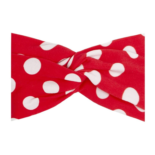 Printed Twist Knot, Red Polka Dot