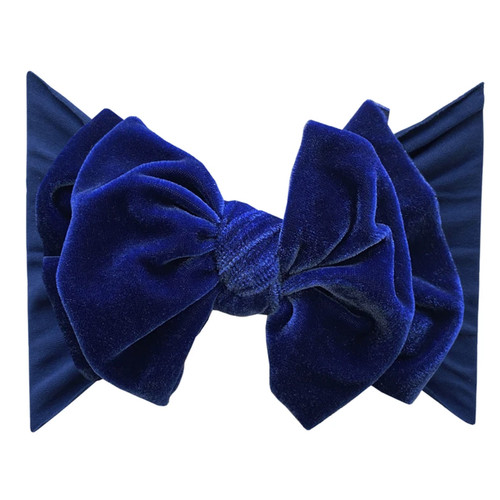 Velvet FAB-BOW-LOUS Bow, Royal