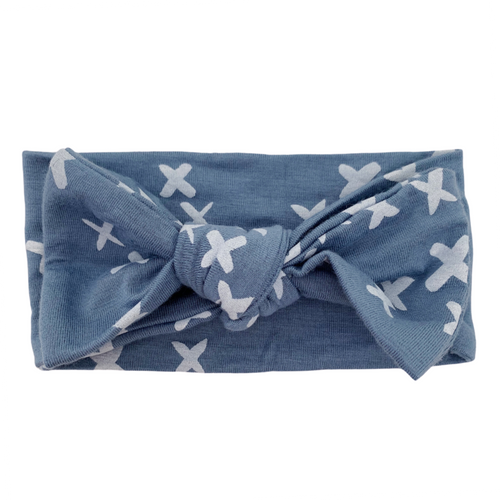 Knot Bow, Blue Kisses