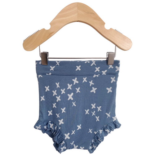 Ruffle Bloomer, Blue Kisses