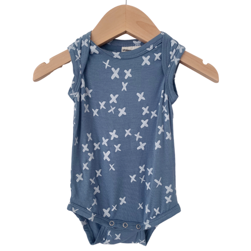 Sleeveless Bodysuit, Blue Kisses