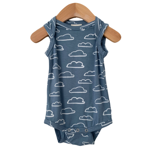 Sleeveless Bodysuit, Sky Cloud