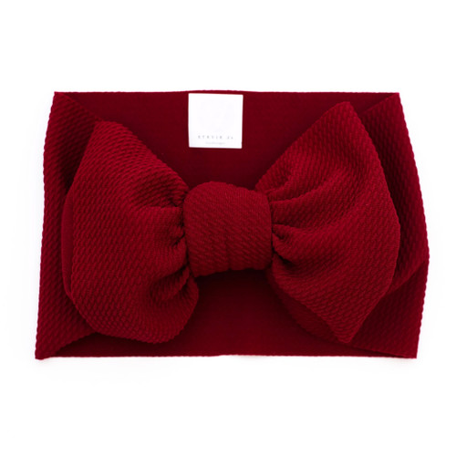 Headwrap Bow, Deep Red
