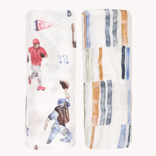 Deluxe Muslin Swaddle Set, Home Run