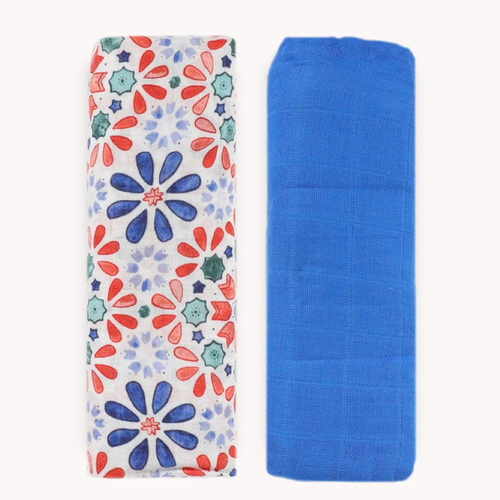 Deluxe Muslin Swaddle Set, Kaleidoscope Set