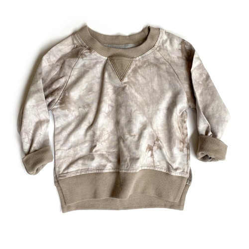 Pullover, Taupe Tie Dye