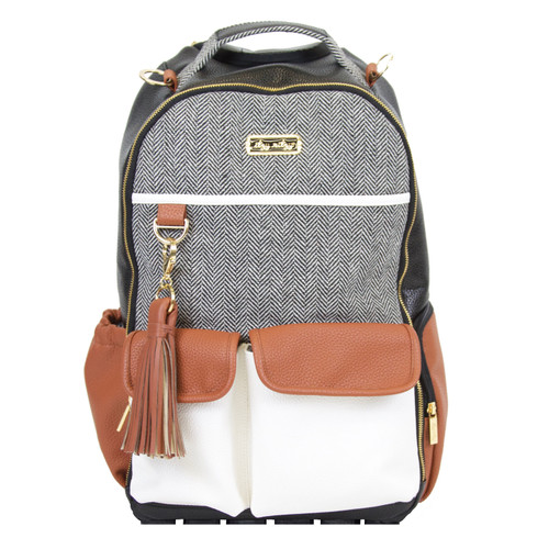 Boss Backpack Diaper Bag, Coffee & Cream