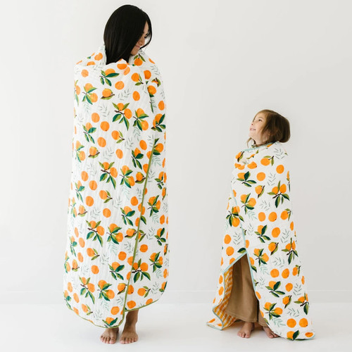 Clementine Large Muslin Throw Blanket