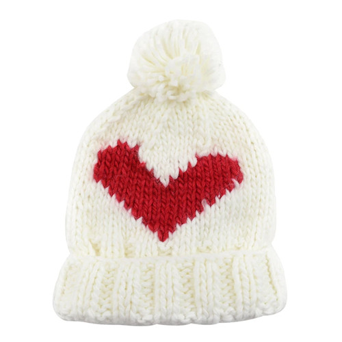 Red Heart Knit Hat