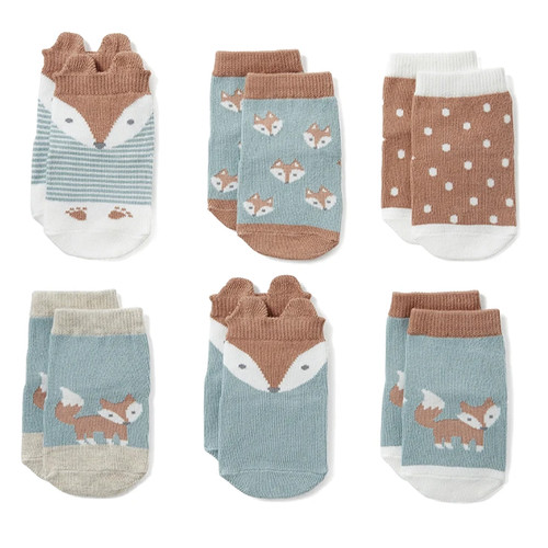 Socks 6-Pack, Fox