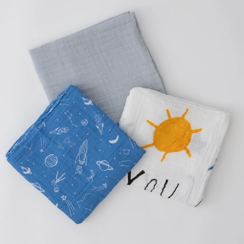 Muslin Swaddle 3 - Pack, Sun Moon Stars
