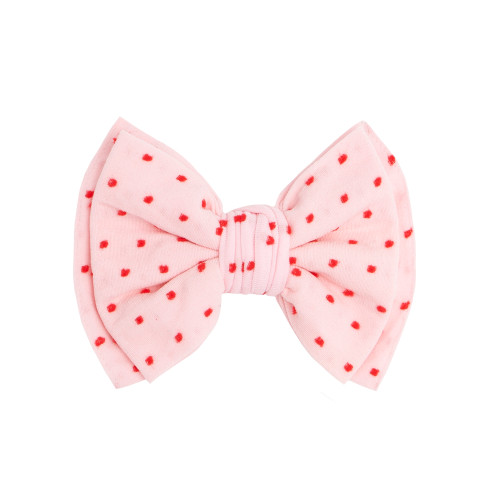 Valentine Shabby Classic Clip, Pink/Red Dots