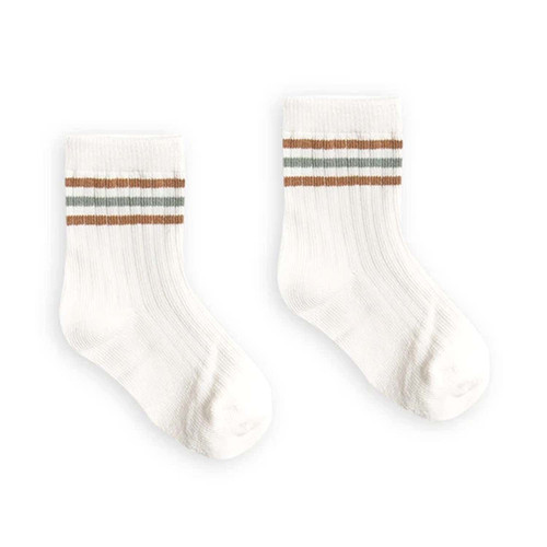 Rylee & Cru Crew Socks, Bronze & Sea
