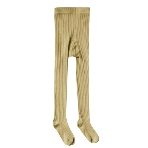Rylee & Cru Ribbed Tights, Citron