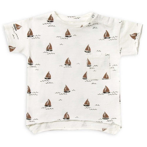 Rylee & Cru Raw Edge Tee, Sailboat